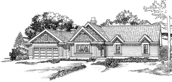 Traditional House Plan 55348 Elevation