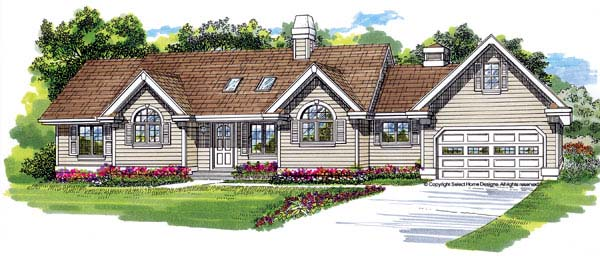 Traditional House Plan 55350 Elevation
