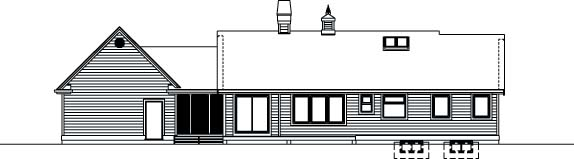 Traditional House Plan 55350 Rear Elevation