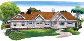 Traditional House Plan 55351 Elevation