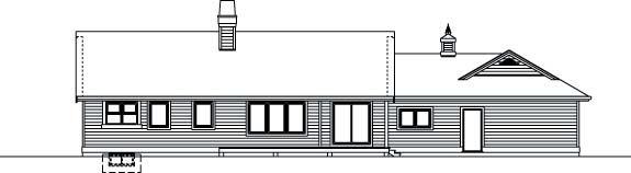 Traditional House Plan 55351 Rear Elevation