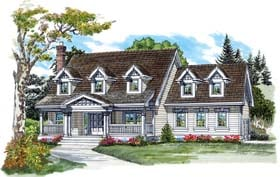 Country House Plan 55352 Elevation