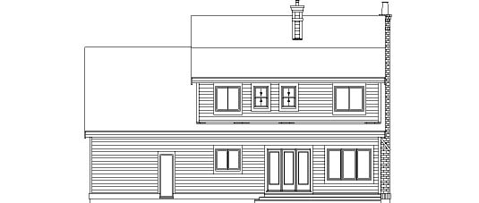 Country House Plan 55352 Rear Elevation
