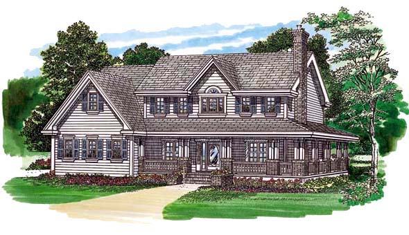 Country House Plan 55355 Elevation