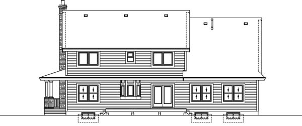 Country House Plan 55355 Rear Elevation