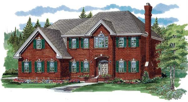 House Plan 55356 | Country Style Plan with 3015 Sq Ft, 4 Bedrooms, 3 Bathrooms, 2 Car Garage Elevation