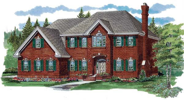 Country House Plan 55356 Elevation