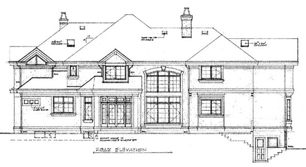 Mediterranean House Plan 55358 Rear Elevation