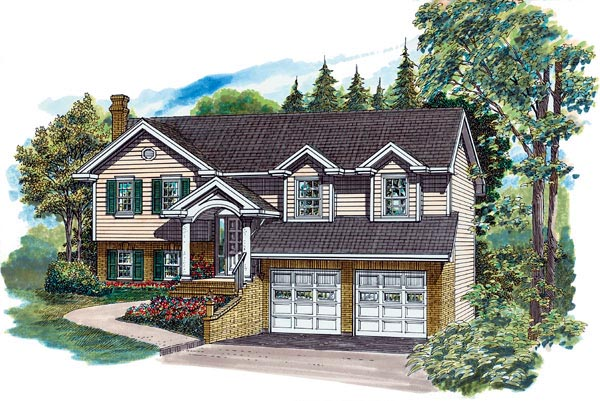 Traditional House Plan 55360 Elevation