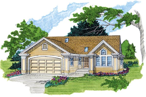 Traditional House Plan 55361 Elevation