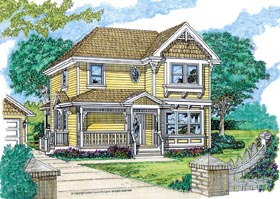 House Plan 55363 | Style Plan with 1681 Sq Ft, 3 Bedrooms, 3 Bathrooms, 2 Car Garage Elevation