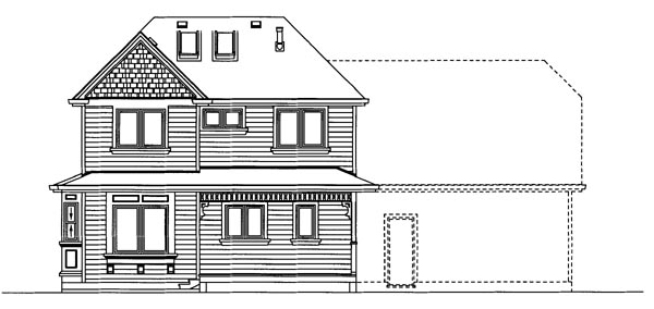 House Plan 55363 Rear Elevation
