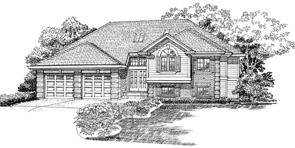 Traditional House Plan 55365 Elevation