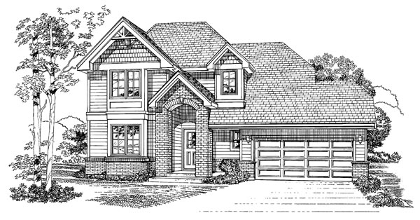 Traditional House Plan 55366 Elevation