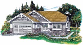 Craftsman House Plan 55368 Elevation