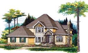 European House Plan 55370 Elevation