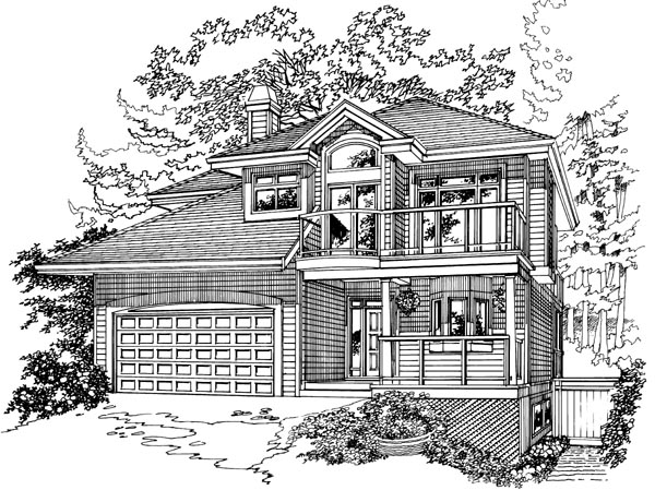 Traditional House Plan 55372 Elevation