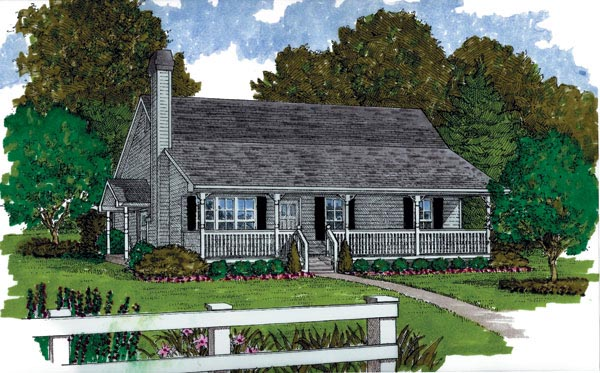 Ranch House Plan 55374 Elevation