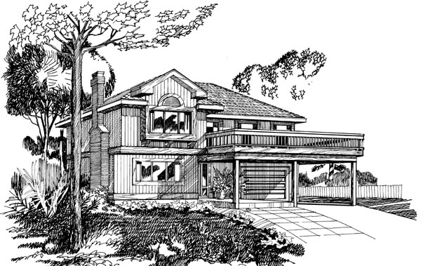 Traditional House Plan 55377 Elevation