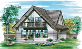 House Plan 55382 Elevation