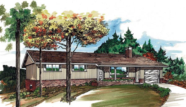 Ranch House Plan 55383 Elevation
