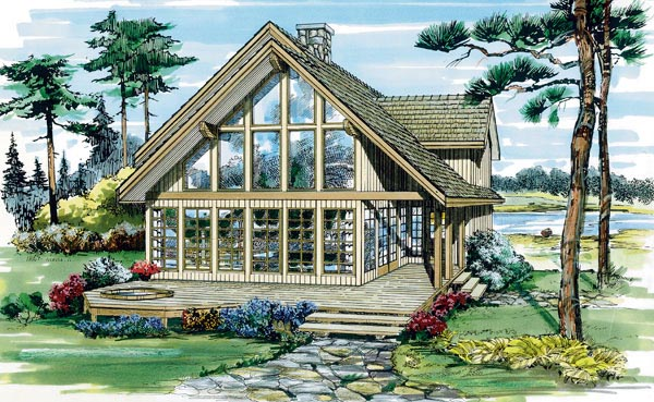 Contemporary House Plan 55387 Elevation