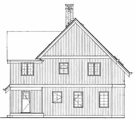 Contemporary House Plan 55387 Rear Elevation