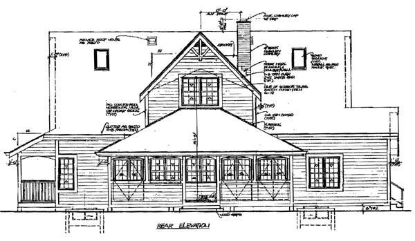 Country House Plan 55389 Rear Elevation