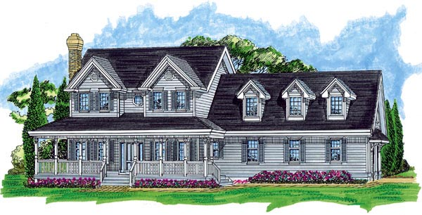 Country House Plan 55393 Elevation