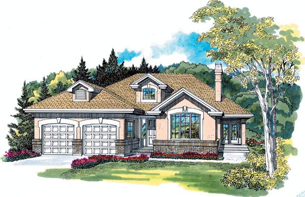 Florida House Plan 55399 Elevation