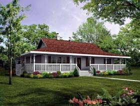 Country House Plan 55400 Elevation