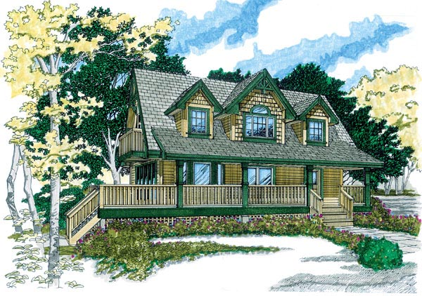 Country House Plan 55401 Elevation