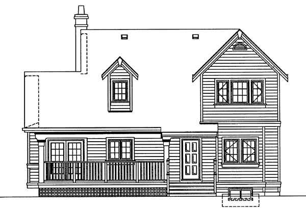 Country House Plan 55402 Rear Elevation