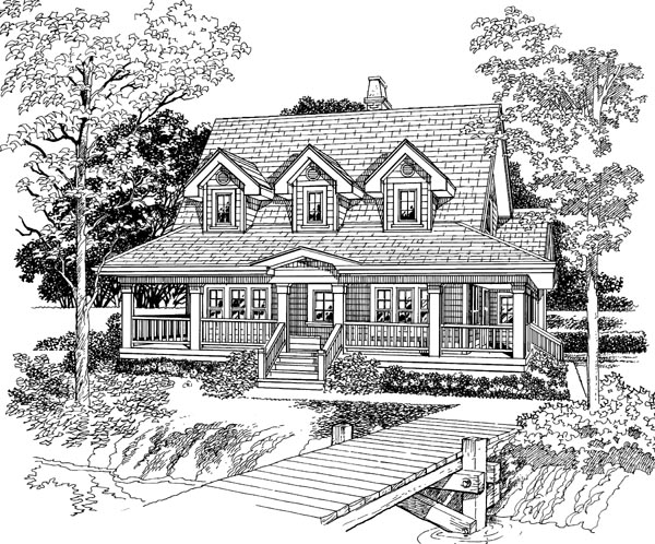 Country House Plan 55403 Elevation