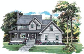 House Plan 55404 | Country Style House Plan with 1924 Sq Ft, 3 Bed, 3 Bath, 2 Car Garage Elevation