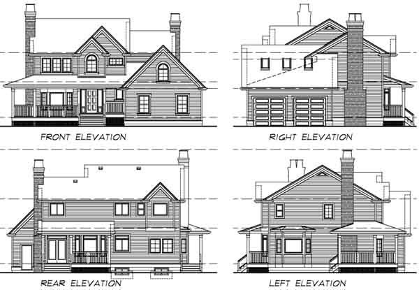 Country House Plan 55404 Rear Elevation