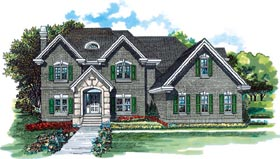 Traditional House Plan 55406 Elevation