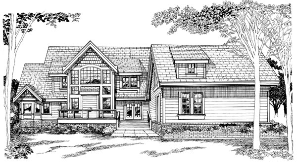 Country House Plan 55407 Rear Elevation