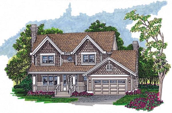 Craftsman House Plan 55408 Elevation