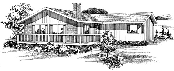 Contemporary House Plan 55410 Elevation