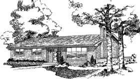 Ranch House Plan 55411 Elevation