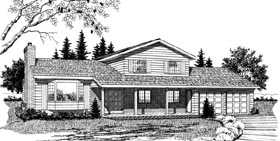 Ranch House Plan 55413 Elevation