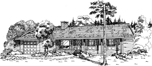 Ranch House Plan 55419 Elevation