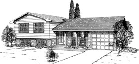Traditional House Plan 55421 Elevation
