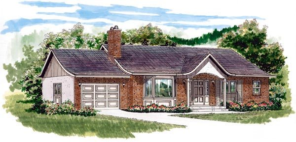 Ranch House Plan 55423 Elevation
