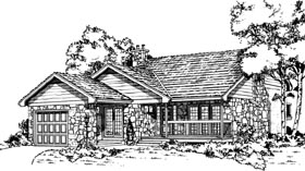 Traditional House Plan 55424 Elevation