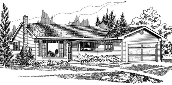 Traditional House Plan 55430 Elevation