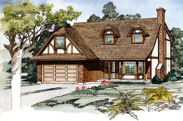 Tudor House Plan 55432 Elevation