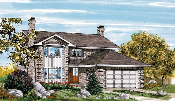Contemporary House Plan 55433 Elevation