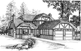Tudor House Plan 55435 Elevation